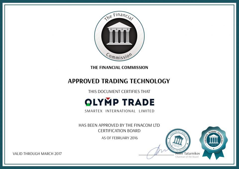 Certificate FinCom print